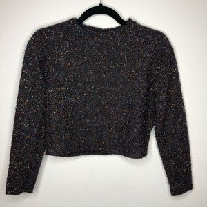 H&M Tinsel Cropped Sweater